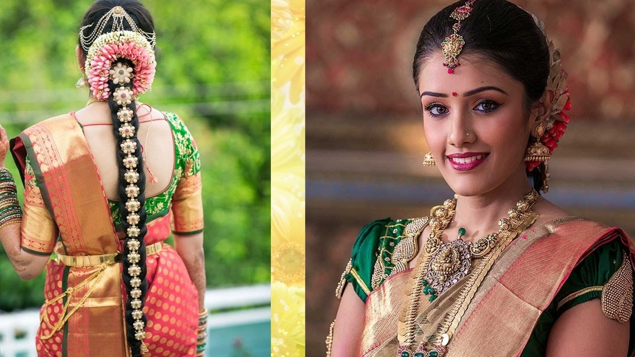 South Indian Bridal Makeup & Hairstyle Tutorial Step By Step   Traditional  Bridal Makeup For Wedding for South Indian Hairstyle Video