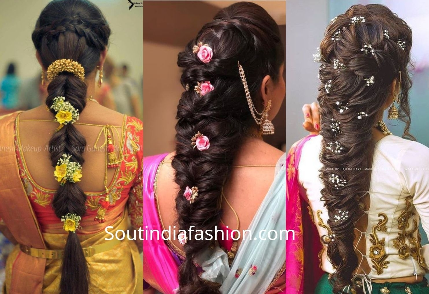 Top 10 South Indian Bridal Hairstyles For Weddings in Indian Hairstyle For Bride