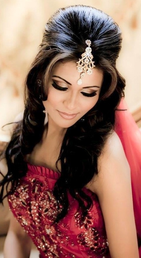 15 Top Indian Bridal Hairstyles | Indian Makeup And Beauty throughout Indian Bride Hairstyles For Long Hair