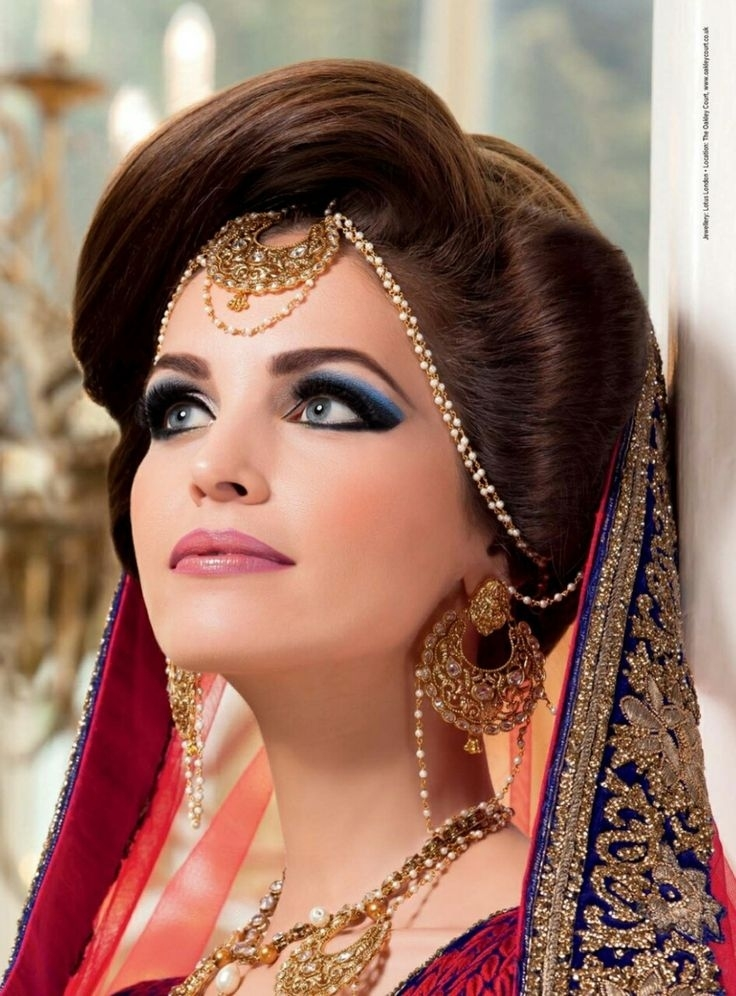 2018 Maang Tikka -18 New Maang Tikka Styles For Face Types in Indian Wedding Hairstyle For Chubby Face