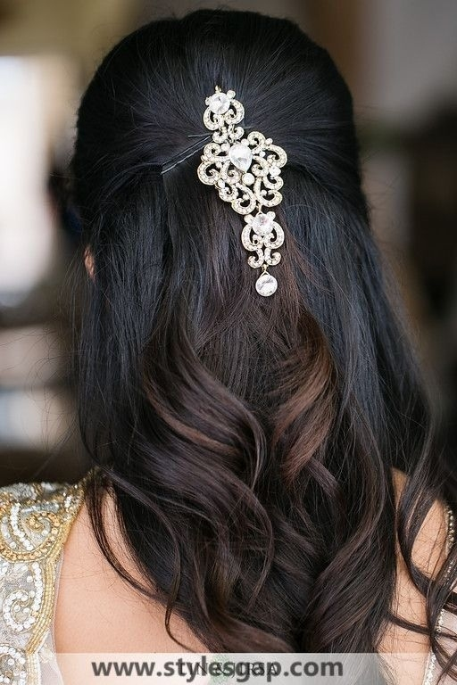 Beautiful Latest Eid Hairstyles Collection 2019-2020 For with regard to Indian Bridal Hairstyle For Medium Length Hair