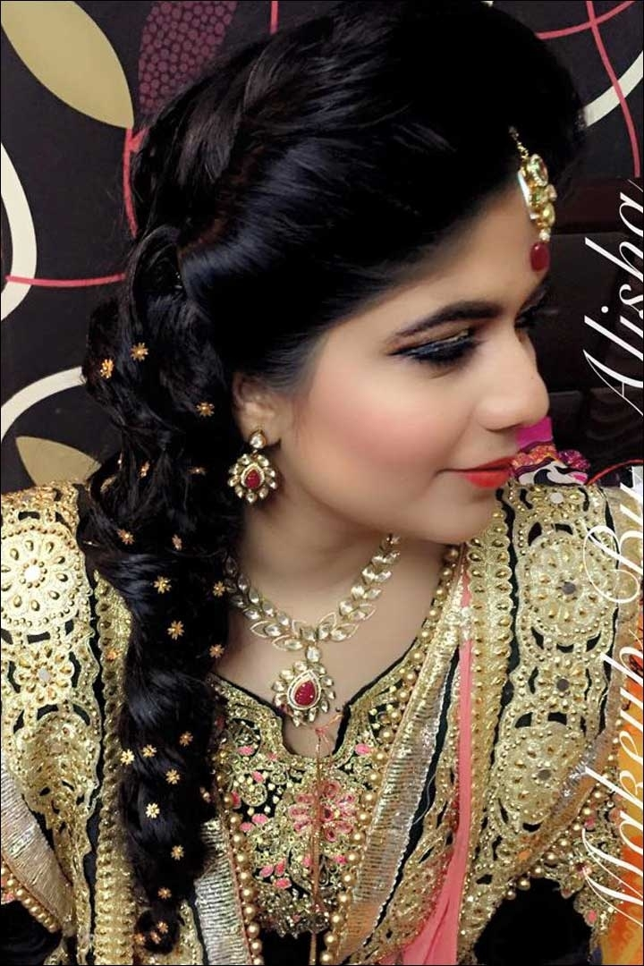 Indian Bridal Hairstyle - Latest Dulhan Hairstyles For Wedding intended for Indian Bridal Hairstyles For Short And Thin Hair