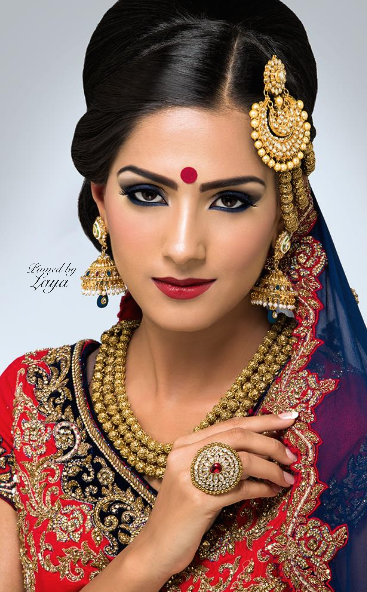 Indian Bride Laya Re- Pinned By Www.annemerson regarding Indian Bridal Hair And Makeup Toronto