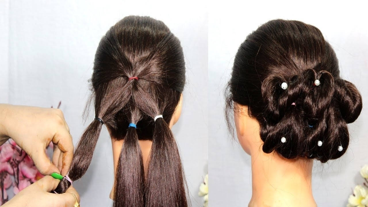 Indian Juda Hairstyle Step By Step - Wavy Haircut intended for Indian Hairstyles For Medium Hair Step By Step