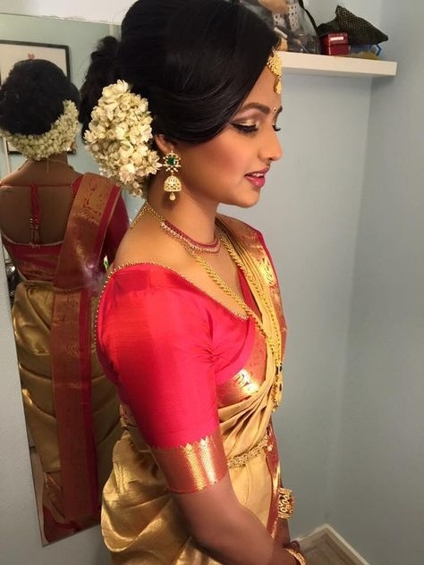 Indian Wedding Hairstyles For Indian Brides- Up Dos within Indian Bridal Hairstyle For Engagement